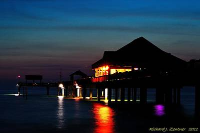 Photograph - Pier 60 In After Glow by Richard Zentner