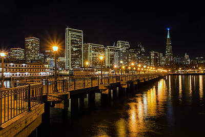 San Francisco Embarcadero Photograph - Pier 7 by Mike Ronnebeck