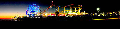 Roller Coaster Mixed Media - Pier Americana by Tim Anderson