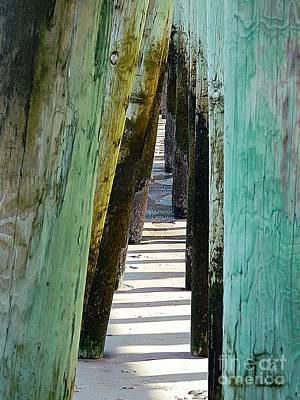Surfing Maine Photograph - Pier Anchors  by Marcia Lee Jones