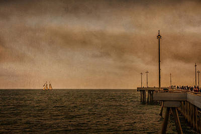 Photograph - Pier And Sailboat by Eduardo Tavares