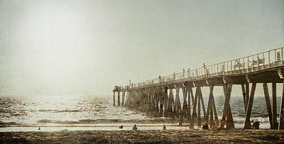 Art Print featuring the photograph Pier Approaching Sunset by Kevin Bergen