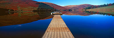 Marys Photograph - Pier At A Lake, St Marys Loch, Scottish by Panoramic Images