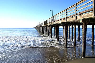 Wharf Digital Art - Pier At Avila Beach California by Barbara Snyder
