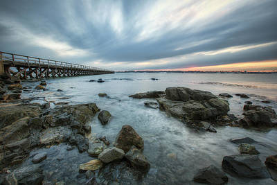 35mm Photograph - Pier At Dusk by Eric Gendron
