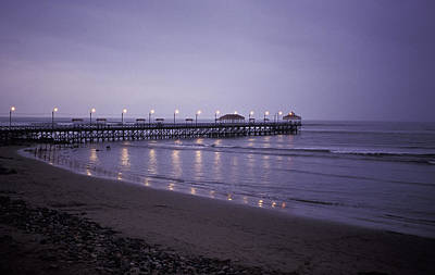 Art Print featuring the photograph Pier At Dusk by Lana Enderle