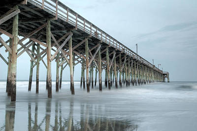 Photograph - Pier At Dusk Pawleys Island by Rob Huntley