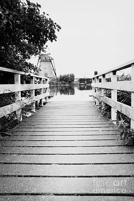 Wooden Platform Photograph - Pier At Kinderdjik by Ivy Ho