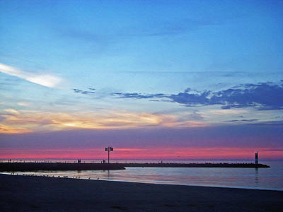 Photograph - Pier At Sunset by Aimee L Maher Photography and Art Visit ALMGallerydotcom