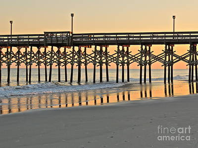 Pier At Sunset Art Print