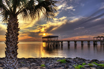 Photograph - Pier At Sunset by Greg and Chrystal Mimbs