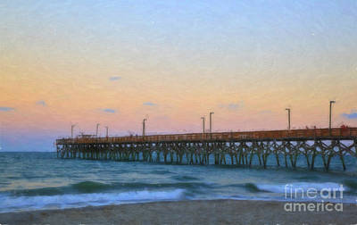 Digital Art - Pier At Sunset by Jill Lang