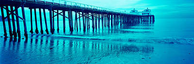 Malibu Photograph - Pier At Sunset, Malibu Pier, Malibu by Panoramic Images