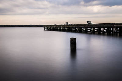 Photograph - Pier At The Glen by Andrew Pacheco