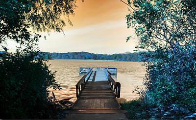 Pier At The Lake Original by Paul Szakacs