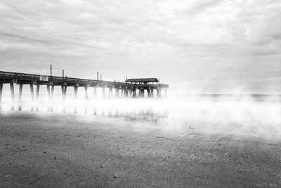 Photograph - Pier At Tybee Island - Georgia Coast by Mark E Tisdale