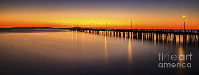 Photograph - Pier Before Dawn by Silken Photography