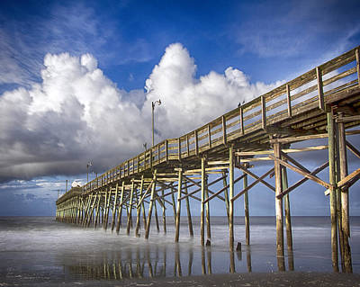 Photograph - Pier Clouds by Alan Raasch