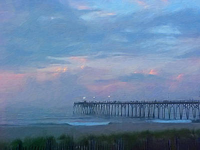 Painting - Pier Dawn by Melody McBride