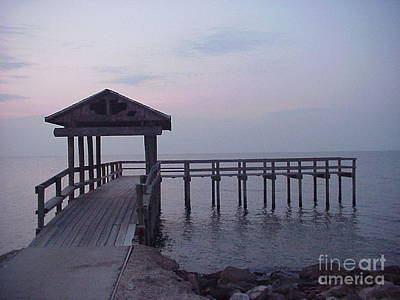 Photograph - Pier Early Morning 1 by D Wallace