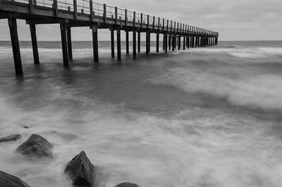 Photograph - Pier In A Storm by Steve Myrick