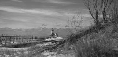 Photograph - Pier In Black And White by John Crothers