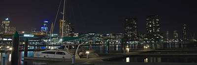 Melbourne Photograph - Pier In Dockland At Night by View Factor Images