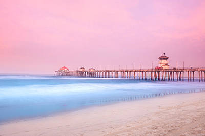 Pier In Early Morning Art Print