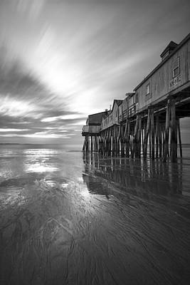 Pier In Monochrome Art Print by Eric Gendron