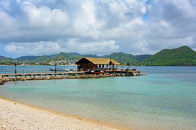 Bahamas Pier Photograph - Pier In Rodney Bay - Saint Lucia by Brendan Reals