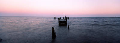 Baltimore Photograph - Pier In The Atlantic Ocean, Dilapidated by Panoramic Images
