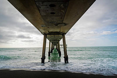Pacifica Photograph - Pier In The Pacific Ocean, Pacifica by Panoramic Images
