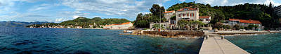 Pier In The Sea, Adriatic Sea, Lopud Art Print by Panoramic Images