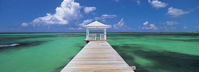 Bahamas Pier Photograph - Pier In The Sea, Bahamas by Panoramic Images