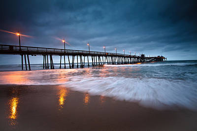 Photograph - Pier Into The Night by Ryan Weddle