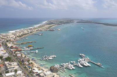 Caribe Photograph - Pier, Isla Mujeres by Victor Elias