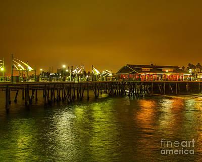 Redondo Beach Pier Wall Art - Photograph - Pier Lights by Dale Nelson
