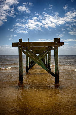 Photograph - Pier Lines by Sennie Pierson