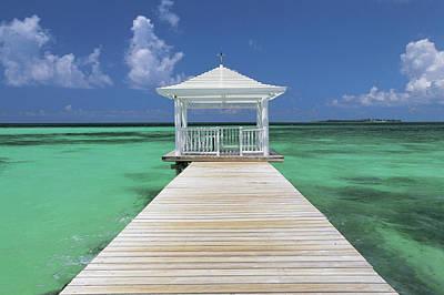 Bahamas Pier Photograph - Pier, Near Nassau, Bahamas by Peter Adams
