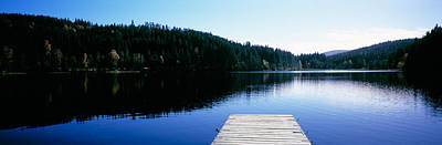 Clear Sky Photograph - Pier On A Lake, Black Forest by Panoramic Images