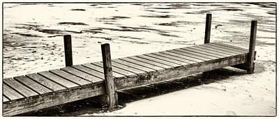Photograph - Pier On Frozen Lake by Daniel Amick