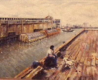 Painting - Pier On The Hudson by Walter Casaravilla