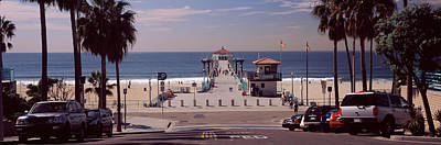 Los Angeles County Photograph - Pier Over An Ocean, Manhattan Beach by Panoramic Images