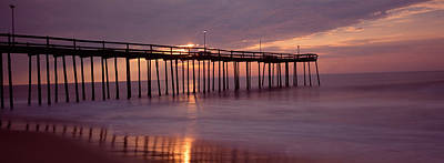 Maryland Photograph - Pier Over An Ocean, Ocean City by Panoramic Images