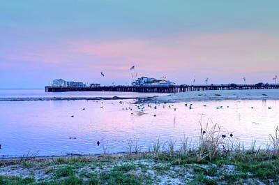 Pier Pond And Sea Art Print