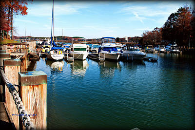 Photograph - Pier Pressure - Lake Norman by Paulette B Wright