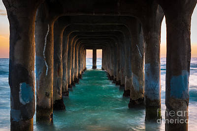Pier Pylons Print by Inge Johnsson