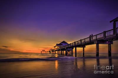 Seashore Photograph - Pier Reflections by Marvin Spates