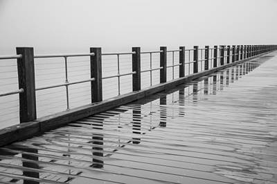 Photograph - Pier Reflections by Steve Myrick