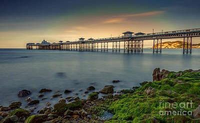 Coastline Digital Art - Pier Seascape by Adrian Evans